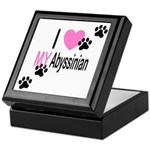 I Love My Abyssinian Keepsake Box