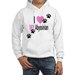 I Love My Abyssinian Hooded Sweatshirt