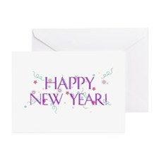 New Year Confetti Greeting Cards (Pk of 10)