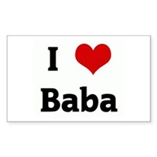 I Love Baba Rectangle Bumper Stickers