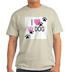 I Love My Dog Ash Grey T-Shirt