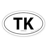 Tokelau country bumper sticker -White (Oval)