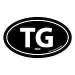 Togo country bumper sticker -Black (Oval)