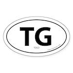 Togo country bumper sticker -White (Oval)