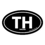 Thailand country bumper sticker -Black (Oval)