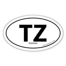 Tanzania country bumper sticker -White (Oval)