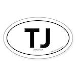 Tajikistan country bumper sticker -White (Oval)