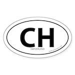Switzerland country bumper sticker -White (Oval)