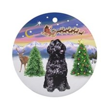 Santa's Take Off (B) /PWD Ornament (Round)