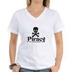 Piracy Women's V-Neck T-Shirt
