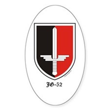 Luftwaffe JG-52 Sticker (Oval - Vertical)