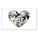 Daisy Heart Rectangle Sticker