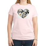 Daisy Heart Women's Light T-Shirt