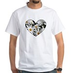 Daisy Heart White T-Shirt