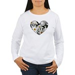 Daisy Heart Women's Long Sleeve T-Shirt