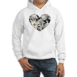 Daisy Heart Hooded Sweatshirt