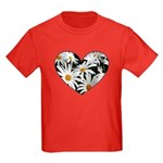 Daisy Heart Kids Dark T-Shirt