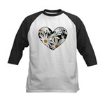 Daisy Heart Kids Baseball Jersey