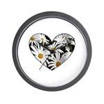 Daisy Heart Wall Clock