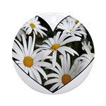 Daisy Heart Ornament (Round)