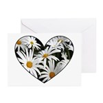 Daisy Heart Greeting Cards (Pk of 10)