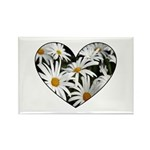 Daisy Heart Rectangle Magnet (100 pack)