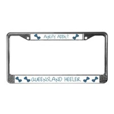 Queensland Heeler Agility Artwork License Plate Fr