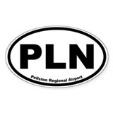 Pellston Regional Airport Oval Decal