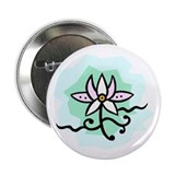 "Lotus Flower 2.25"" Button"