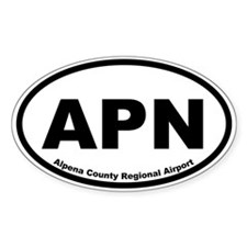 Alpena County Regional Airport Oval Bumper Stickers