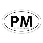 St. Pierre & Miquelon bumper sticker -White (Oval)