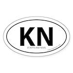 St. Kitts & Nevis bumper sticker -White (Oval)