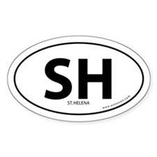 St. Helena bumper sticker -White (Oval)
