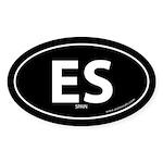 Spain country bumper sticker -Black (Oval)