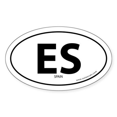 Spain country bumper sticker -White (Oval)