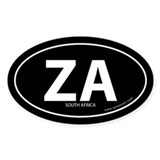 South Africa country bumper sticker -Black (Oval)