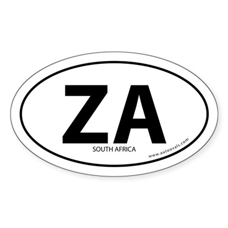 South Africa country bumper sticker -White (Oval)