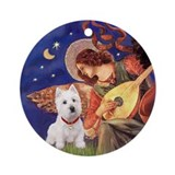 Mandolin Angel (#3) & Westie Ornament (Round)