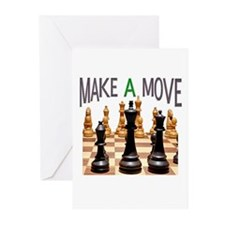 MAKE A MOVE CHESS 1 Greeting Cards (Pk of 10)
