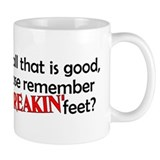 Point Your Feet Small Mug