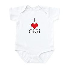 I Love (Heart) GiGi Onesie