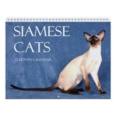 Siamese Show Cats Wall Calendar