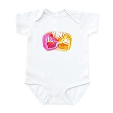 Funny Purple heart Infant Bodysuit
