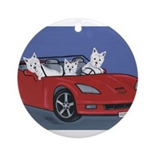 Westies Cruzin' Ornament (Round)