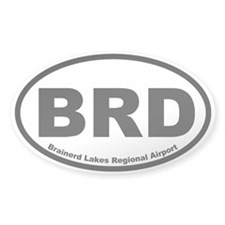Brainerd Lakes Regional Airport Oval Decal