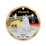 XmasDove(P)/ with KODY custom Ornament (Round)