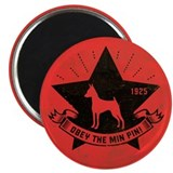 Obey the Min Pin! Dog Star Icon Magnet