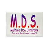Multiple Dog Syndrome Rectangle Magnet