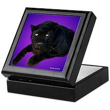 Black Panther on Purple Keepsake Box