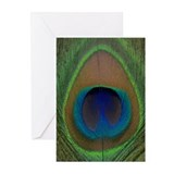 Peacock Feather Greeting Cards (Pk of 20)